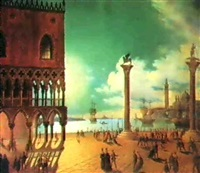 a view of the piazzetta,venice by calle leone