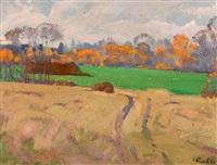 paysage de campagne by nikolai efimovich timkov