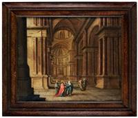 palatsinteriör med kristus by hans jurriaensz van baden