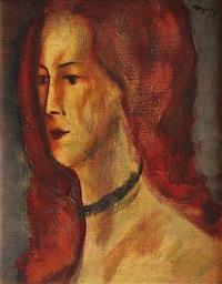 portrét malířky talabardon by vaclav hejna
