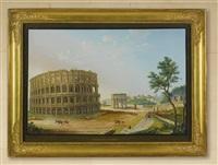 piazza del colosseo, rome by giuseppe gustavo scoppa