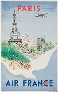 paris/air france (by regis manset) by posters: aviation