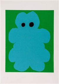 untitled (teddy bear) by gary hume