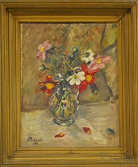 floral still life by ernst pickardt