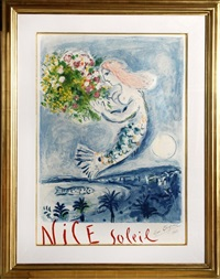 la naie des anges (the bay of angels) by marc chagall