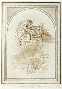 a collection of prints in imitation of drawings (85 works) by charles rogers