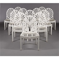 set of george iii style chairs (set of 12) by dick reid
