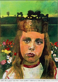 alice in wonderland - well, this is grand! said alice. i never expected i should be a queen so soon by peter blake
