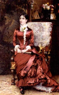 portrait of madame d. by gustave claude etienne courtois