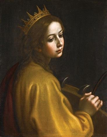 saint catherine of alexandria by francesco curradi on artnet