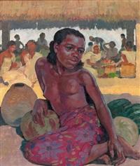 marché du sud - madagascar by paul-léon bleger