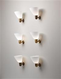 wall lights (set of 6) by kaj gottlob