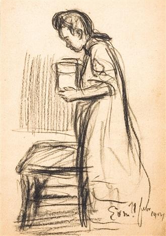Petite fille et chaise by eugene van mieghem on artnet for Table et chaise petite fille