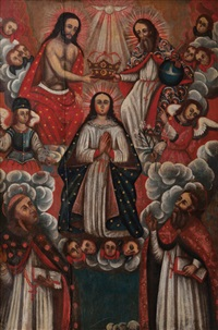 coronation of the virgin by peruvian school-cuzco (18)