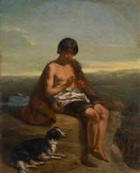 le pâtre musicien by charles augustin wauters