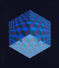 composition géométrique by victor vasarely
