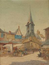 honfleur le marché by adolf alexander dillens