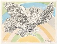 le columbe volant (á l'arc-en-ciel) by pablo picasso