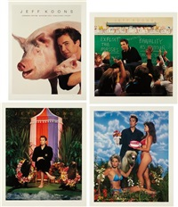 art magazine ads portfolio (set of 4) by jeff koons