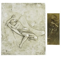 untitled (nude on lounge) (3 works) by bruno lucchesi