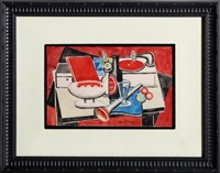 still life with phonograph by jean metzinger