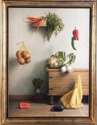 bodegon con pimientos y zanahorias by aldo bahamonde
