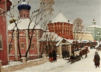 winter in zagorsk by vladimir nikolaevitch aralov