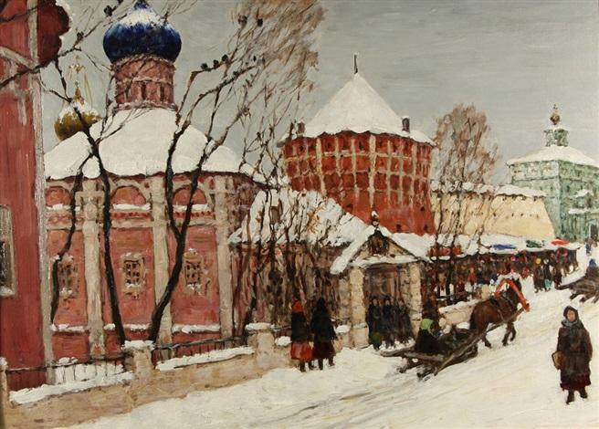 winter in zagorsk by vladimir nikolaevitch aralov