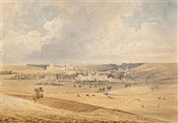 chateaux village of arques near dieppe by newton (smith limbird) fielding