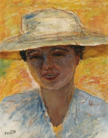 portrait de femme au grand chapeau by pierre bonnard