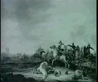 reiterschlacht vor einer fes- tung by a. van hoef