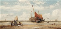 unloading the catch, low tide by william edward webb