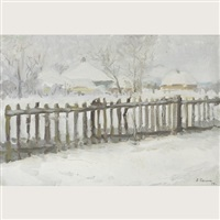 winter motif by aleksandr dmitrievich basanets