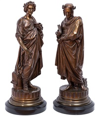 dante and ovid (pair) by pierre aubert