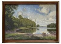 utsikt över en sjö vid engelsberg, värmland by olof arborelius