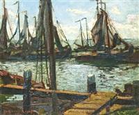 kikötő vitorlásokkal by guillaume georges roger