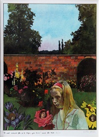 alice in wonderland - it isn't manners for us to begin, you know - said the rose by peter blake