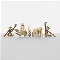 collection of animals (set of 6) by kay bojesen