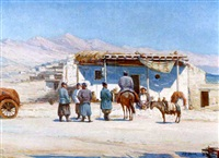 tea room, turkestan by sergei vasilievich ivanov