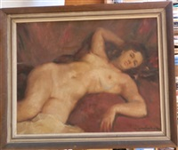 femme allongée by jose santiañez