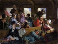 dans le wagon de deuxième classe by clément-auguste andrieux