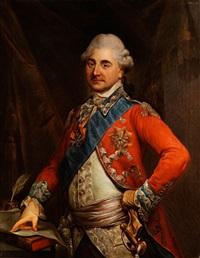 portrait des stanislaus ii. august poniatowski, könig von polen by marcello bacciarelli