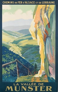 la valleé de munsterm, chemins de fer d'alsace et de lorraine by henry de renaucourt