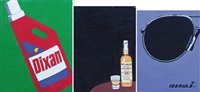 dixan; iberia; scotch whisky (3 works) by luigi fosca