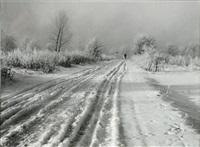 paysage enneigé de campine by léonard misonne