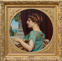 a pompeian lady by john william godward