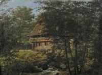 schwarzwaldhaus am bachlauf by georg wilhelm issel