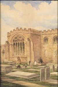 bangor cathedral and burial ground by richard dadd