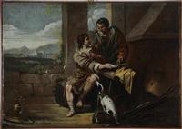 giacobbe e esau by mathieu (le chevalier) le nain