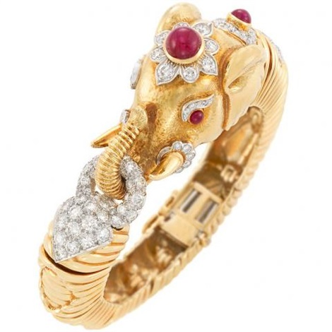 bangle diamonds in bracelet uncut bangles gold with ruby